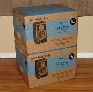 New Infinity P 153 2 Way Stereo Bookshelf Speakers P153 Black Pair