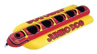 New Inflatable Towable Water Tube Airhead Jumbo Hot Dog 5 Person
