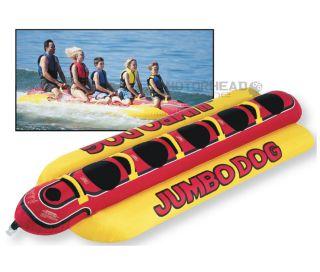 TEK AIRHEAD JUMBO DOG 5 PERSON TOWABLE TUBE INFLATABLE WATER TUBE NEW