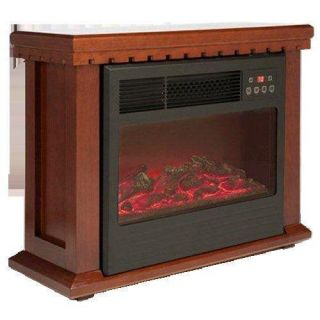 Red Core Amish Style Quartz Infrared Fireplace Heater 1000 sqft 2 CLRS