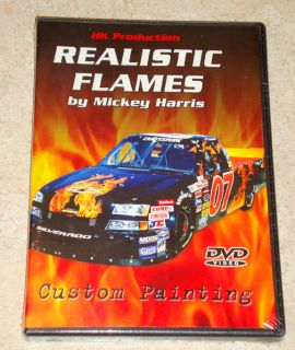 Instructional DVD__How to Airbrush Paint REALISTIC FLAMES by Mickey