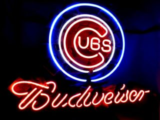 Chicago Cubs Baseball Beer Bar Neon Light Sign ME062