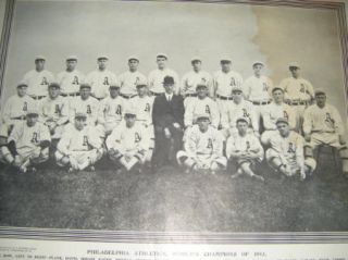 1913 National Police Gazette Philadelphia Athletics Worlds Champions