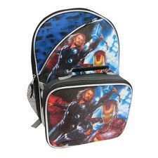 Iron Man Hulk Thor School 16 Backpack Insulated Lunch Bag