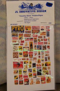 JL Innovative Design Country Store Posters Signs HO