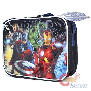 Marvel Avengers School Lunch Bag Insulated Box Iron Man Captain