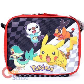 Pokemon School Insulated Lunch Bag Black and White Sanck Bag Pokeball