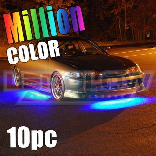 10pc Million Color LED Underbody Interior Kit