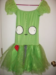 Gir Invader Zim Juniors Halloween Costume Cosplay Dress Large