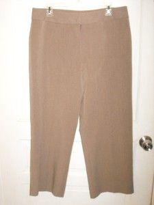Womens Investments Petites Light Brown Dress Pants Size 14 P