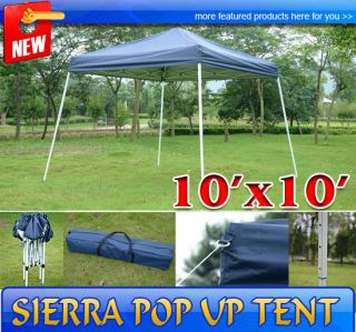New 10 Sierra Pop Up Tent Outdoor Patio Instant Canopy Shelter