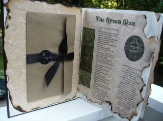 BOOK OF SHADOWS 22 vibrant colored wiccan pagan parchment pages 100