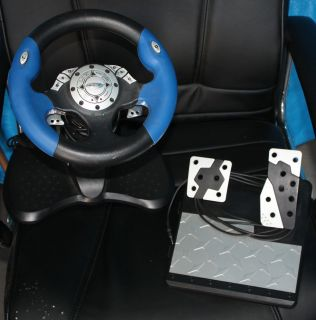 Intec Steering Wheel & Pedals PS1 / PS2 / XBOX / Gamecube
