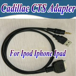 CADILLAC CTS AUX INPUT INTERFACE ADAPTER CABLE FOR iPOD iPHONE IPAD