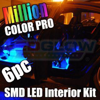6pc Million Color SMD LED Interior Neon Lights Kit