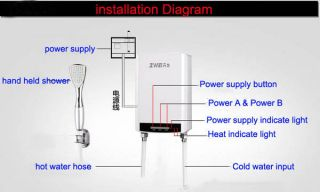 Electric Water Heater Shower system  Instant hot shower Exquisite