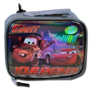 Lightning McQueen Mater Kids Insulated Tote Lunch Bag Box New 3