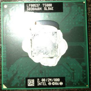Intel Core 2 Duo T5800 2GHz 2M 800 Dual Core Laptop CPU Working 100