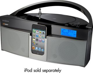 Boombox CD Player with HD Radio iPod iPhone Dock Station Speaker Aux