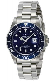 Invicta 9308 Mens Blue Dial SS Band Pro Diver Watch