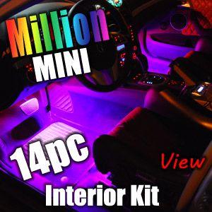 8PC Million Color SMD Mini Interior LED Lights Kit