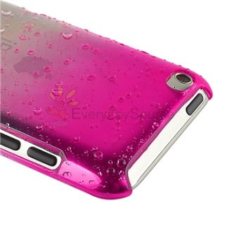 for Apple iPod iTouch 4 4G 4th Gen Hot Pink White Water Drop