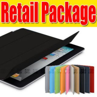 iPad 2 Smart Cover PU Leather Magnetic Case Stand Wake Up Sleep Multi