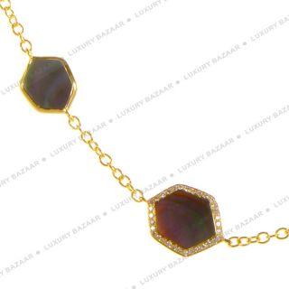 IPPOLITA Polished Rock Candy Black Shell and Diamond Necklace