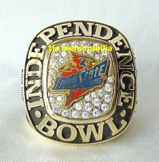 2001 Iowa State Cyclones Independence Bowl Championship Ring Player