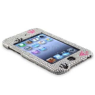 Rhinestone Bling Hard Skin Case Cover for iPod Touch 3rd 2nd Gen 3G 2G