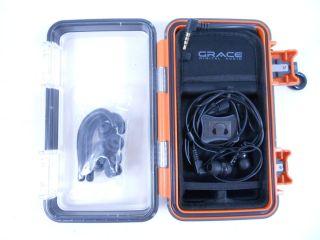 Grace Eco Pod Waterproof Case for iPhones iPods Orange No Box