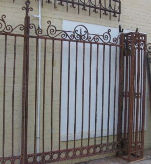 antique wrought iron gate header