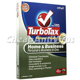 TurboTax Home Business Federal State Efile 2008 New