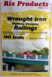 PACK OF WROUGHT IRON HIGHWAY OVERPASS RAILINGS KIT HO SCALE ROADS