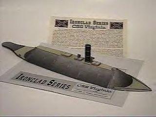 Civil War Ironclad CSS Virginia Merrimac SHIP Model