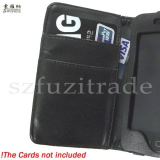 Wallet Leather Case Pouch Cover for Apple iPod Touch 4 4G 4th Gen 8GB