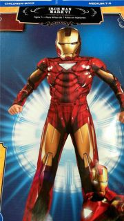 Iron Man Mark VI Red Boys Kids Entire Costume Superhero Sz 7 8 M