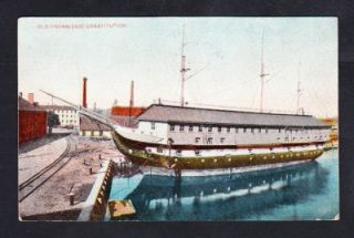Old Ironsides USS Constitution 1909 Boston MA Vintage Navy SHIP