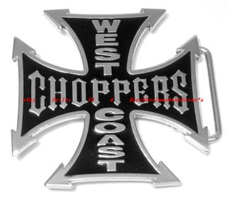 BBG1543L West Coast Choppers Celtic Iron Cross Belt Buckle