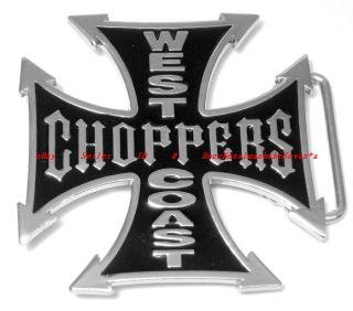 BBG1543L West Coast Choppers Celtic Iron Cross Belt Buckle