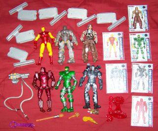 Iron Man 2 Movie 6 figure lot Mark 1, Crimson Dynamo, Whiplash, War