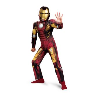 The Avengers Iron Man Mark 7 Muscle Jumpsuit Costume Child Toddler New