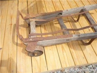 Antique cast iron wheels HAND TRUCK DOLLY  for loading your freight
