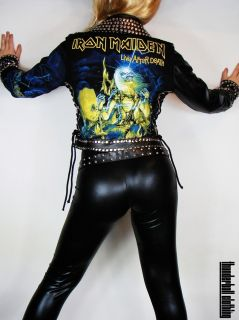 Iron Maiden Studded Leather Jacket by Thunderball Clothing