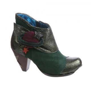 Irregular Choice New Mirror Mirror in Green Boots Various Sizes
