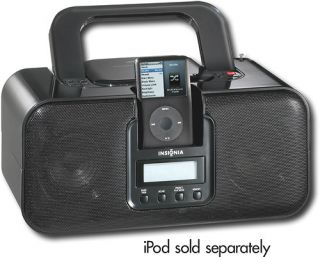 Insignia Boombox CD Player with Am FM Radio iPod iPhone Dock Station