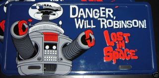SPACE B9 ROBOT License Plate tag DANGER NEW Irwin Allen Jupiter II 2