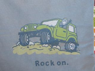 Life Is Good Rock on Off Road Jeep Jake Blue Men