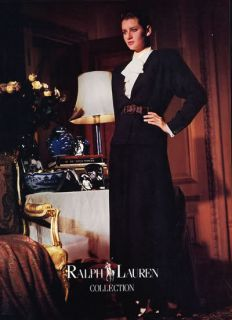 1986 Ralph Lauren Isabelle Townsend Fashion Magazine Ad