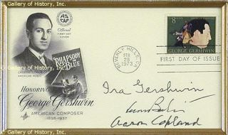 Ira Gershwin First Day Cover Signed